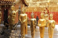 Buddha statues at Wat Phrathat Doi Suthep