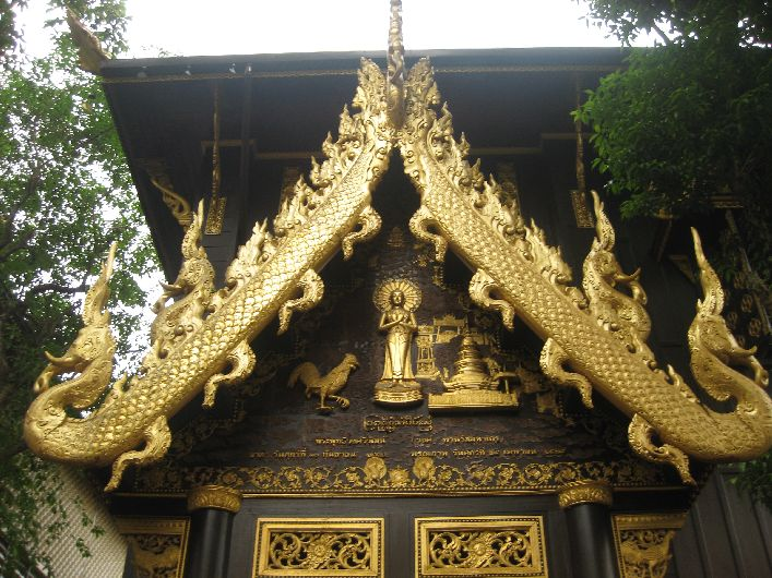 Exterior of one of the temples in Chiang Rai