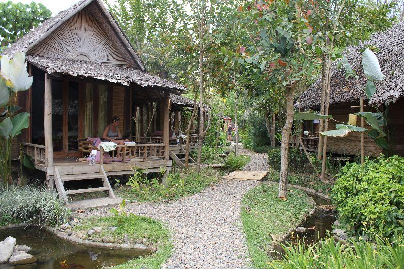 Nice bamboo bungalows at Baan Pai Village in Pai