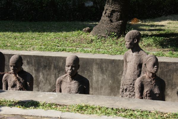 The slave monument, at East Africa's stave capital- Stone Town Zanzibar
