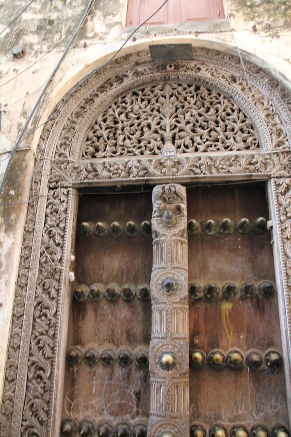 The doors of Stone Town are a key attraction here. The metal studs were to repel elephants.