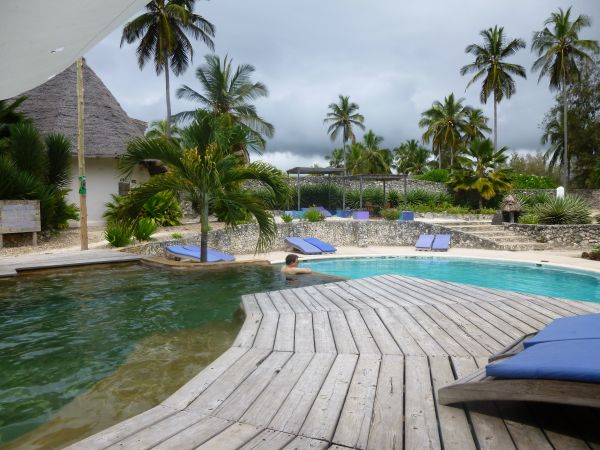 The two-level pool at Matemwe Beach Village - really peaceful