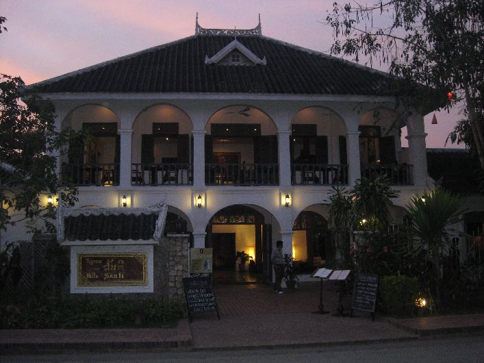 A smart boutique hotel typical of the type of villas you see across Luang Prabang