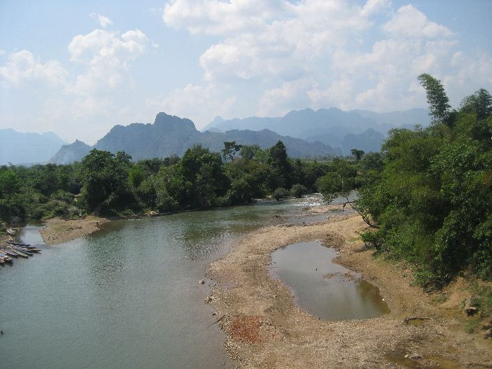 A quiet stretch of the Nam Song River