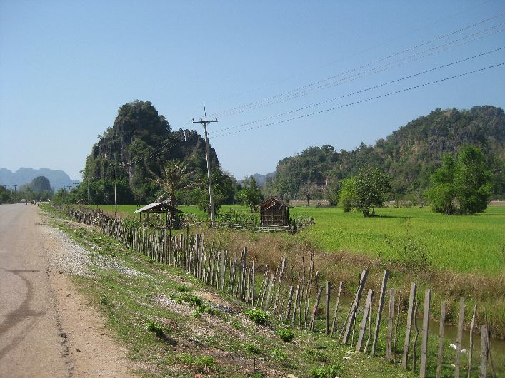 Exploring beautiful scenery like this central to the pleasure of the Thakhek loop