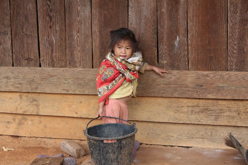 Posing girl at the Hmong village