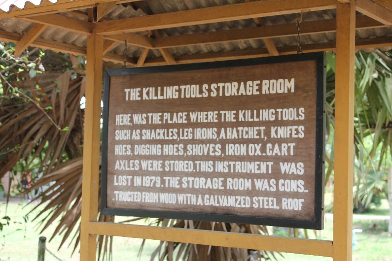 Storage room sign at the killing fields