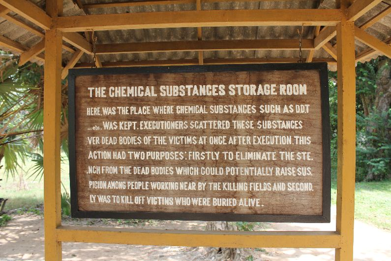 Chemical substances sign at the killing fields