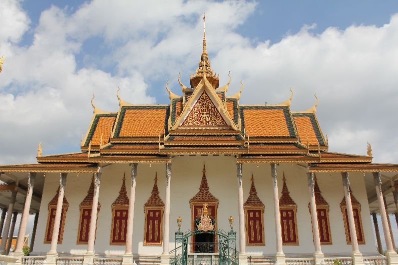 The Temple of the Emerald Buddha at the Royal Palace, Phnom Penh. This particular Buddha crops up in many places across Thailand and Laos also