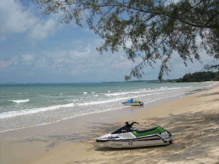 The most peaceful beach at Sihanoukville is Otres beach