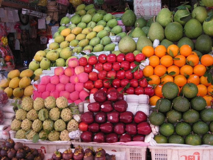 Colourful fruit on the streets of Saigon