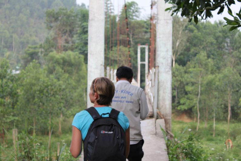 The access bridge (used by people AND scooters) for a remote village