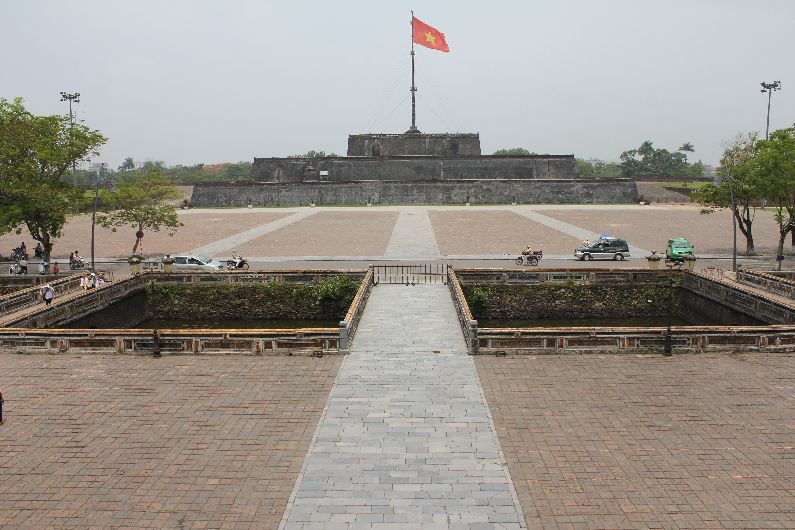 View from the Ngo Mon gate, where military processions would take place.