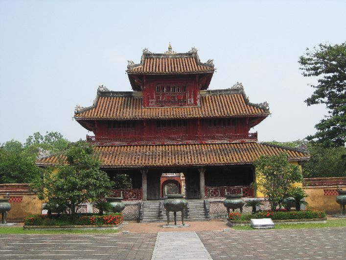 One of the buildings inside - they were height-restricted so the Emperor himself had the tallest building