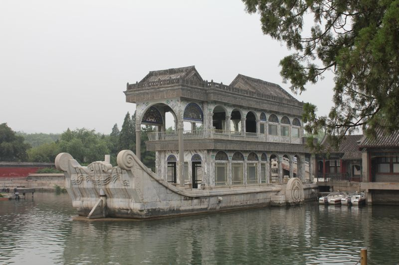 The marble 'boat' at the Summer Palace, seated in Kunming Lake