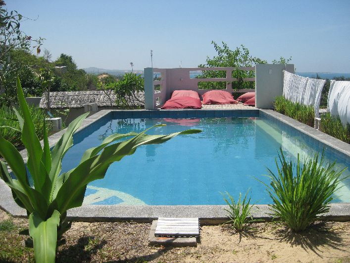 Everything about Mui Hills Guesthouse is welcoming, especially the pool and deck area
