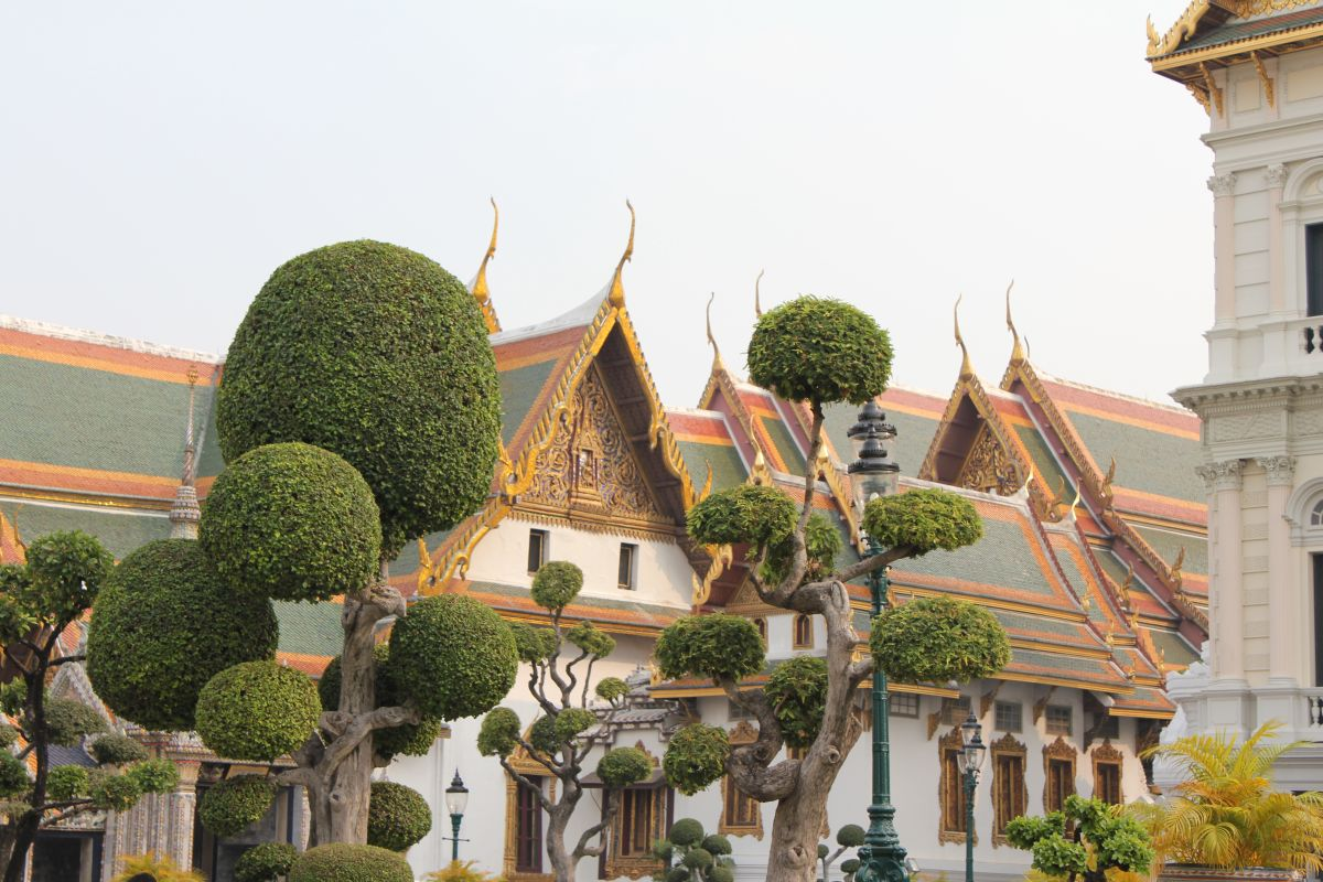 Trees in front of Grand Palace Bangkok