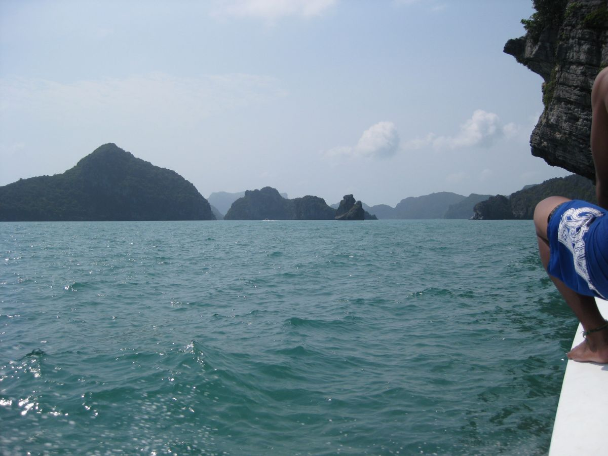 Islands from boat at Ang Thong Marine Park