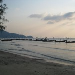Koh Tao Sairee beach longtails