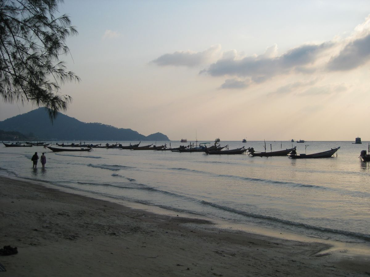Koh Tao Sairee beach longtails Koh Tao: Open Water Diving Course