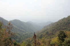 View of mountains around Chiang Mai