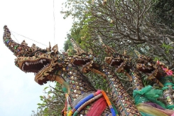 Dragon at bottom of steps at Wat Phrathat Doi Suthep