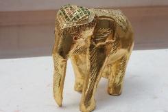 Gold elephant at Wat Phrathat Doi Suthep
