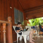 Chilling outside a bungalow on Koh Tao at Silver Sands